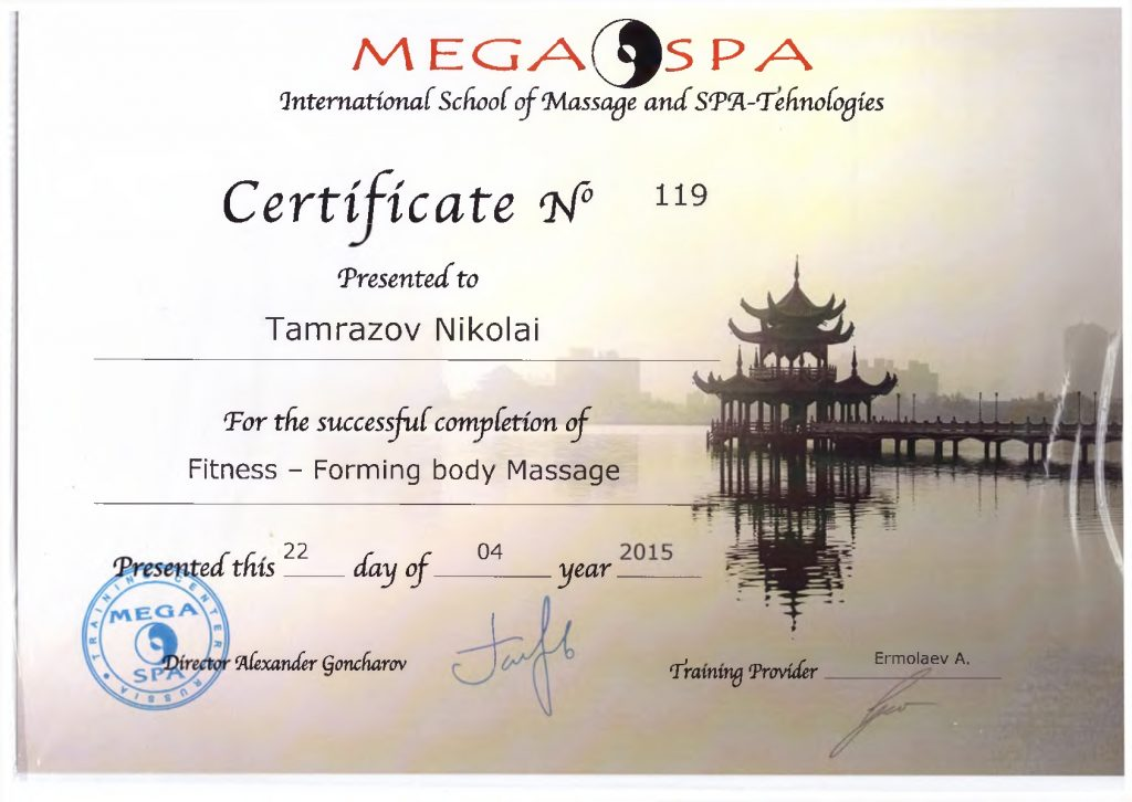 Fitness-Forming body Massage